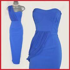 Karen Millen Royal Blue One Shoulder Party Cocktail Pencil Dress Uk10 Eu38