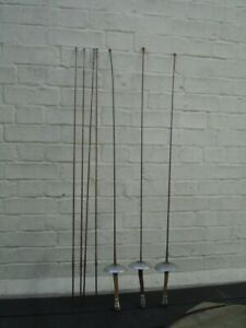 Vintage Leon Paul fencing epees or foils x 3 with carry bag and 4 spare blades