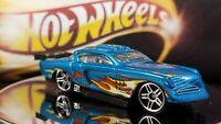 Hot Wheels  At-A-Tude BLUE w/ ORANGE FLAMES 1:64 Scale Metallic