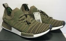 4cfd09f340de Adidas Mens Size 13 NMD R1 STLT PK Boost Running Trace Olive Black Shoes  CQ2389