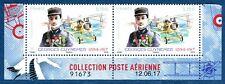 poste aérienne PA 2017 Guynemer paire daté issue du feuillet de 10 timbres