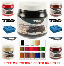 TRG GRISON LEATHER RECOLOURING BALM CREAM RESTORER SOFA CHAIRS 14 COLOURS 300ml