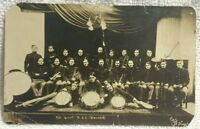 USS HANCOCK Military Band Brooklyn Navy Yard N.Y. PHOTO WWI Postcard RPPC 1911
