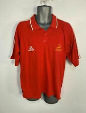 MENS ADIDAS SIZE LARGE RED EURO FRANCE 98 COUPE DU MONDE FOOTBALL POLO SHIRT TOP