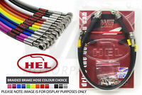 Hel Performance Braided Brake Pipe Hoses Ford Focus MK2 2.5 Turbo RS 2009