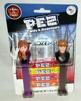 FROZEN 2  PEZ Dispensers 2 pack Includes 4 Rolls of Candy KRISTOFF AND ANNA