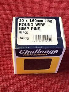 75g Assorted  DIY Challenge Round Wire Gimp  Pins  25g 13mm 25g 10mm.25g 6mm 25g