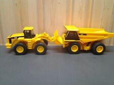 """1997 Matchbox CAT Dump Truck & Wheel Loader Battery Operated 9"""""""