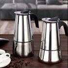 Percolator Stove Top Coffee Maker Moka Espresso Latte Stainless Pot photo