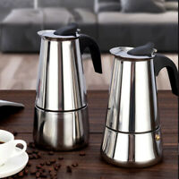 Percolator Stove Top Coffee Maker Moka Espresso Latte Stainless Pot