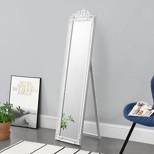[en.casa] Standspiegel Ankleidespiegel Spiegel Barock Landhausstil 160x40cm Weiß