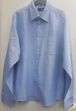 MEN'S FILA Button down Long Sleeve Shirt BLUE Size XXL
