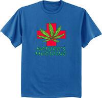 men's big and tall t-shirt legalize it medical marijuana weed pot tall tee 420