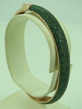 Turkish Handmade Jewelry 925 Sterling Silver Emerald Stone Ladies' Bangle
