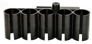 Black 12 gauge shotshell carrier shell holder picatinny rail hunting tactical.