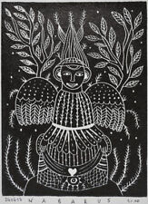 nabARus 240417-1 Linogravure - linocut - Linograbado - Outsider Art 13x18 cm