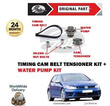 VW GOLF  2.0 TFSI R 16V 2009->ON NEW TIMING CAM BELT TENSIONER KIT & WATER PUMP