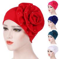 Women India Hat Turban Head Wrap Cap Muslim Ruffle Chemo Hat Beanie Scarf`