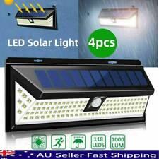 PAIR 118LED Solar Sensor Light PIR Motion Detection Security FLOOD Garden Lamp