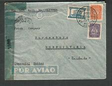 Portugal WWII censor cover Lisbon 30 Rua Rosa Araujo 3rd to Frick Waynesboro PA