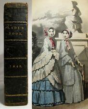 1849 EDGAR ALLAN POE Godey's Ladys Book MELLONTA TAUTA 1ST PRINTING Color Plates