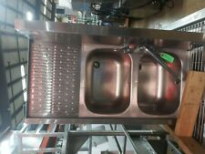 Krown 2 Compartment Bar Sink with Left Drain Board.