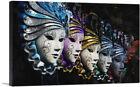 ARTCANVAS Row of Venetian Porcelain Masks Canvas Art Print