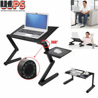 360°Adjustable Folding Laptop Table Lap Desk Bed Computer Tray Stand