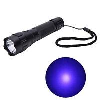UV WF-501B LED 365NM Ultra Violet Blacklight Flashlight Torch 18650 Light LampAT