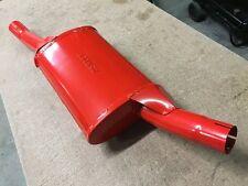 Vauxhall Nova Sport back box, Genuine original Ashley rear silencer in red