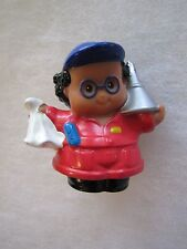 Fisher Price Little People CAR AUTO MECHANIC for OIL CHANGE Boy Man Worker Red