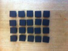 20 de 30 x 30mm carré dimension extérieure en plastique bouchons pour tube de métal