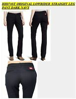DICKIES GIRLS NAVY PANTS HH874ST ORIGINAL LOWRIDER STRAIGHT LEG PANT W/ POCKET