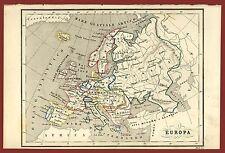 Europa litografia 1857 Pagnoni Marghieri Smolensko Valladolid York Odessa
