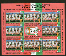 SIERRA LEONE 1990 ITALY WORLD CUP Le30 SHEETLET CZECHOSLOVAKIA TEAM MNH