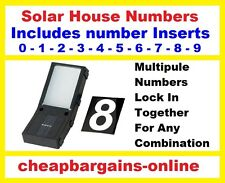 SOLAR POWERED WIRELESS ILLUMINATED STREET HOUSE NUMBERS OUTDOOR LIGHTS MAILBOX