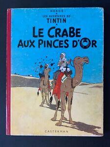 Tintin - Le Crabe Aux Pinces D'Or - B11 - 1954 - TBE
