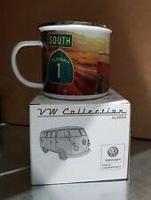 Emaille Tasse Becher Kaffee Tee VW Bulli T1 Highway Emailliert