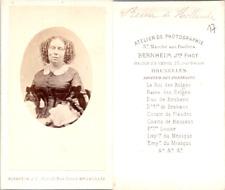 Bernheim, Bruxelles, Sophie, reine des Pays-Bas Vintage CDV albumen carte de vis