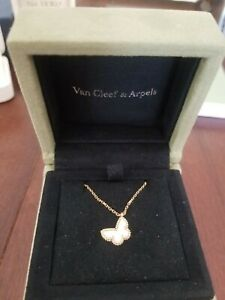 Van Cleef & Arpels Sweet Alhambra Butterfly pendant necklace Mother of Pearl