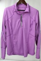Tangerine Stretch Polyester Blend Purple & White Striped 1/2 Zip Sweater - 2XL