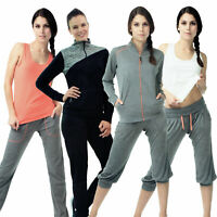 Damen Fitnesshose Training Joggen Yoga Sportanzug Freizeit Sweatpants lang 3/4