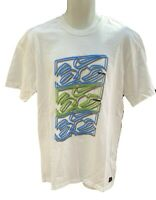 New NIKE 6.0 Cotton Tee Shirt T Shirt White with Double Vision Graphic L