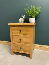 Rustic Oak Bedside Cabinet / Country Nightstand / Bedside Table Side End Unit