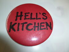 """Hell's Kitchen Magnet Promotional Hell Video Store 3"""" Vintage Pin Back Button"""