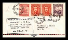 DR JIM STAMPS ASUNCION HOUSTON AIRMAIL FIRST FLIGHT PARAGUAY COVER