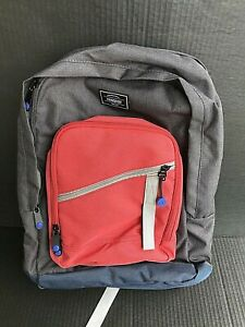 American Tourister Keystone Backpack Charcoal, Red, & Blue Backpack NEW -AN