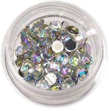 Strasssteine Strass rund 4mm 50 Stk. Stone UV Gel Acryl Nail Silber #00567-11