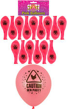 15 Pink Hen Party Night Balloons Balloon Accessory Caution Hen Party!
