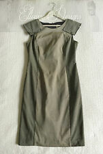 AS NEW VERONIKA MAINE Pattern Black/Grey Bodycon Pencil Shift Work Dress SIZE 12